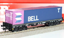 Rivarossi H0 HR6134-01 Container-Tragwagen mit 40-Fuß-Container Neu