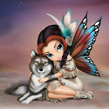 Moonbeam Fairy  with Wolf Wisdom - Spirit of the Pack -Jasmine Becket Griffith