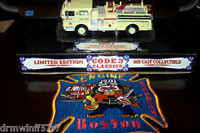 "Code 3 - Boston  ""Classic""  Engine-20, MA + Free Fire Patch"
