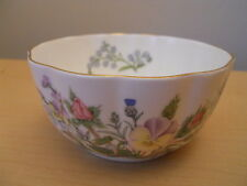 Aynsley China Bowl Sugar Bowl Wild Tudor Pattern Excellent Condition
