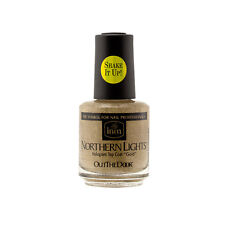 inm Northern Lights Hologram Gold Top Coat Lacquer Polish for Nails 15mL