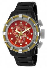 New Men's Invicta 13847 Bolt Sport Swiss Chronograph Red Dial Black Watch
