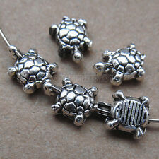 25pc Animal Tortoise Spacer Beads Accessories Bead Findings Tibetan Silver SA130