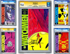 WATCHMEN #1-12 CGC NM    ISSUES #1-4-9 SIGNED BY ARTIST DAVE GIBBONS    1986