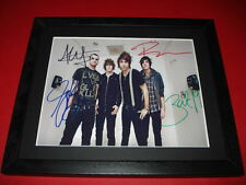 ALL TIME LOW BAND SIGNED MOUNTED & FRAMED 10X8 PP REPRO PHOTO ALEX GASKARTH