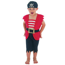 PIRATE BOY TODDLER FANCY DRESS CHILD 2-3 YEARS COSTUME