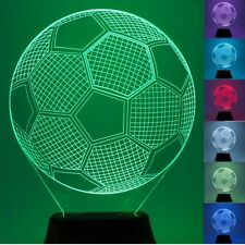 Football LED 3D Illuminated Table Light Desk Micro USB Lamp Night 7 Color Change