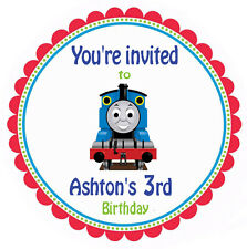 Thomas the Tank Train Personalised Round Stickers x 24 Birthday Thank you Labels