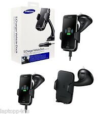 ORIGINALE SAMSUNG Qi Wireless AUTO S DOCK Caricabatteria / Holder per Galaxy S6 EDGE + PLUS
