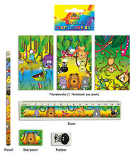 24 Jungle Animal Stationery Sets. Contents 5 pieces. Bulk Buy Pocket Money Toys