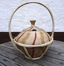 mid century design 60's - Vintage Keramik Bowle Krug mit Tragekorb Germany ~60er