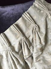 DESIGNER CHELSEA HARBOUR 9FT LONG BESPOKE INTERLINED TAUPE SILK CUSTOM CURTAINS