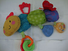 Fisher Price Caterpillar Baby Developmental Toy Senses Learning Play Plush 12""