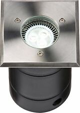 Knightsbridge GU10 Square S/Steel 316 Grade Walkover / Driveover Ground Light