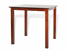 Contemporary Square Dining Kitchen Solid  Wood Table in Dark Walnut Finish