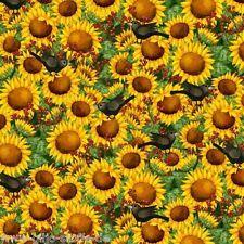 Patchworkstoff Sunflower Stoffe Herbst Patchwork Sonnenblumen Baumwolle Blumen
