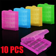 10x Hard Plastic Case Holder Storage Box Cover for Rechargeable AA AAA Batteries
