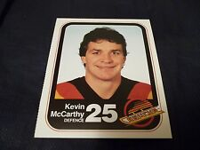 1983-84 Vancouver Canucks Team Issue #25 Kevin McCarthy