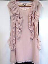 RIVER ISLAND PALE PINK SHORT SLEEVELESS DRESS SIZE 6 NWT