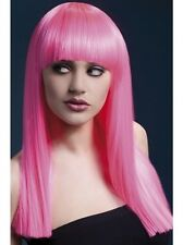 Alexia Wig Neon Pink New Adult Halloween Cristmas Womens Accessories by Fever