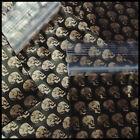 """Ziplock Baggies Apple Mini Bags 100 Gold Skull Design Bags 3030 3"""" X 3"""" Largest"""