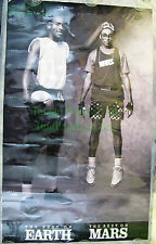 Vintage LAMINATED Nike Poster Michael Jordan Spike Lee Best On Earth Best Mars!