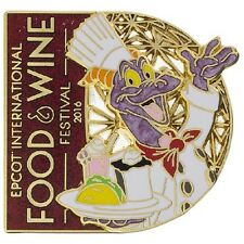 Disney Parks Food & Wine Festival 2016 Chef Figment Logo Pin