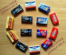 120 mixed INDIAN Double Edge Safety DE Razor Blades sample pack Rasierklingen