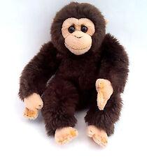 """Monkey Brown Tan Stuffed Plush Bean Bag Jungle Animal No Tail 9"""" Vintage?"""