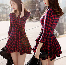 Womens Sexy Summer Casual Long Sleeve Evening Party Cocktail Short Mini Dress
