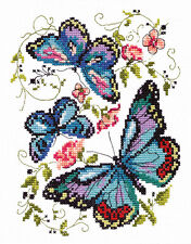 Cross Stitch Kit Blue butterfly
