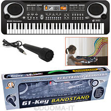 New 61 Keys Digital Electronic Music Keyboard Electric Piano Organ Microphone UK