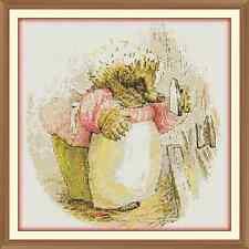 mrs tiggy winkle beatrix potter CROSS STITCH CHART 12.0 x 12.0 Inches