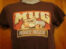 MUG ROOT BEER youth med T shirt Dog bulldog mascot beat-up tee