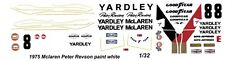 #8 Peter Revson Yardley Mclaren 1975 1/32nd Scale Slot Car Decal Waterslide