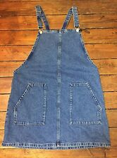 Topshop Moto Blue Denim Pinafore Dress Size 10 Women's Defected. Ad43