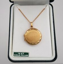 Large Round 14K Gold Filled Locket in Original Box