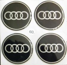 4pcs (silicone) AUDI Logo Wheel Center Stickers 60mm Replacement Decal Cap Hub