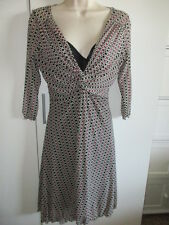 MAX STUDIO SHEER BLACK PINK GEOMETRIC DRESS VERY NICE SZ M