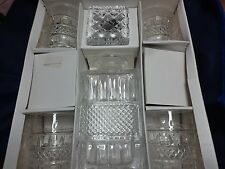 CESKA BOHEMIA 24% LEAD CRYSTAL SAVOY 5 PC. WHISKEY SET MADE IN CZECH.- NIB