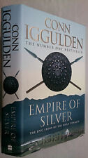 CONN IGGULDEN.EMPIRE OF SILVER.1ST/4 H/B D/J 2010 PRICED £18.99.THE KHAN DYNASTY