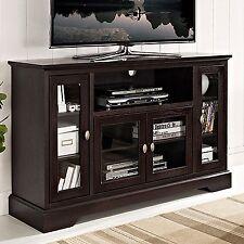 """Walker Edison 52"""" Espresso Wood Highboy TV Console W52C32ES TV Stand NEW"""
