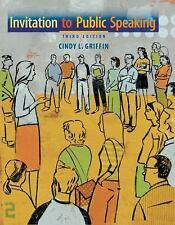 Invitation to Public Speaking, Griffin, Cindy L., Acceptable Book