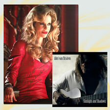 TRUE BLOOD PAM PHOTO Autographed by KRISTIN BAUER + signed CD ABRI VAN STRATEN