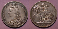 1887 QUEEN VICTORIA JUBILEE HEAD CROWN - High Grade Coin
