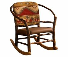 Amish Hickory Log Hoop Rocker Rocking Chair Rustic Cabin Lodge