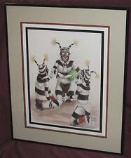 "Neil David Sr -Framed Print -""One For Me, Two For Me"" -Tewa Clowns - 1990 - Hopi"