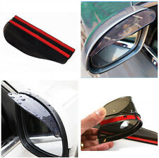 2P Car New Truck Rearview Board Eyebrow Sun Visor Shade Guard Shield Mirror Rain