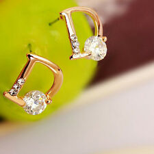 Letter D Set Auger Ttemperament of Zircon Earrings Trendy Stub Earrings