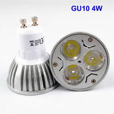 4 x GU10 4W High Power Warm White Light Bulbs